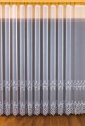 Firana haftowana z aplikacją 11596 SZER 3,3m WYS 250cm kolor kremowy