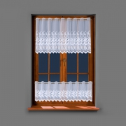 Firanka biała haftowana zazdrostka 11923 30cm